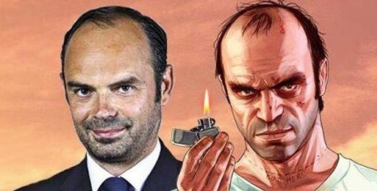 Edouard Phillipe ressemble à Trevor Philips de GTA V